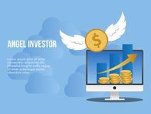 Πρότυπο σχεδίου απεικόνισης έννοιας επενδυτών αγγέλου διανυσματική απεικόνιση
