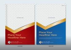 Πρότυπο σχεδίου βιβλίων κάλυψης με το διάστημα για την αθλητική εκδήλωση απεικόνιση αποθεμάτων