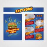 Πρότυπο σχεδίου ιπτάμενων γρήγορου φαγητού A4 στο μέγεθος Φυλλάδιο και σχέδιο σχεδιαγράμματος φρέσκια ελιά πετρελαίου κουζινών τρ απεικόνιση αποθεμάτων