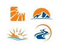 Πρότυπο σχεδίου λογότυπων επιχειρησιακών εταιρικό έξυπνο επιχειρήσεων Απλό και καθαρό επίπεδο σχέδιο της απεικόνισης βολβών απεικόνιση αποθεμάτων