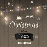 Πρότυπο σχεδίου πώλησης Χριστουγέννων επίσης corel σύρετε το διάνυσμα απεικόνισης Στοκ φωτογραφία με δικαίωμα ελεύθερης χρήσης