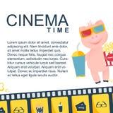 Πρότυπο σχεδίου χρονικών εμβλημάτων κινηματογράφων διανυσματική απεικόνιση