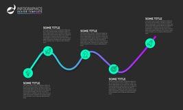Πρότυπο σχεδίου Infographic Δημιουργική έννοια με 5 βήματα Στοκ Εικόνα