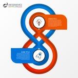 Πρότυπο σχεδίου Infographic Δημιουργική έννοια με 2 βήματα Στοκ Φωτογραφίες