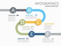 Πρότυπο σχεδίου Infographic με τη θέση για τα στοιχεία σας επίσης corel σύρετε το διάνυσμα απεικόνισης ελεύθερη απεικόνιση δικαιώματος
