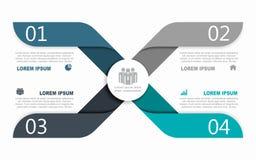 Πρότυπο σχεδίου Infographic με τη θέση για τα στοιχεία σας επίσης corel σύρετε το διάνυσμα απεικόνισης στοκ φωτογραφίες με δικαίωμα ελεύθερης χρήσης