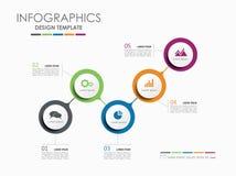 Πρότυπο σχεδίου Infographic με τη θέση για το κείμενό σας επίσης corel σύρετε το διάνυσμα απεικόνισης Στοκ Εικόνες