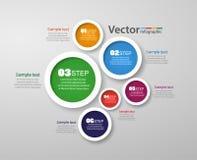 Πρότυπο σχεδίου Infographic που μπορεί να χρησιμοποιηθεί για το σχεδιάγραμμα ροής της δουλειάς, διάγραμμα, επιλογές αριθμού, σχέδ Στοκ Φωτογραφίες