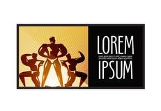Πρότυπο σχεδίου αθλητικών λογότυπων ικανότητα ή Στοκ Φωτογραφίες