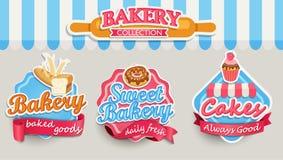 Πρότυπο σχεδίου αρτοποιείων Στοκ εικόνα με δικαίωμα ελεύθερης χρήσης