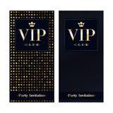 Πρότυπο σχεδίου ασφαλίστρου καρτών VIP πρόσκλησης Στοκ Εικόνες