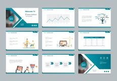 Πρότυπο σχεδίου για την επιχειρησιακή παρουσίαση με το infographic σχέδιο στοιχείων διανυσματική απεικόνιση