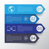 Πρότυπο σχεδίου εμβλημάτων βημάτων διάνυσμα/απεικόνιση Στοκ Φωτογραφία