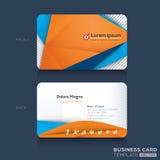 Πρότυπο σχεδίου επαγγελματικών καρτών Στοκ φωτογραφία με δικαίωμα ελεύθερης χρήσης