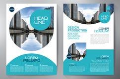 Πρότυπο σχεδίου ιπτάμενων επιχειρησιακών φυλλάδιων a4 Στοκ Εικόνες