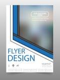 Πρότυπο σχεδίου ιπτάμενων επιχειρησιακών φυλλάδιων Στοκ Φωτογραφία
