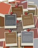 Πρότυπο σχεδίου ιστοχώρου στις στιγμιαίες φωτογραφίες. Διάνυσμα Στοκ φωτογραφία με δικαίωμα ελεύθερης χρήσης