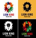 Πρότυπο σχεδίου λογότυπων βασιλιάδων λιονταριών Στοκ Εικόνα