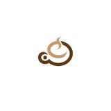 Πρότυπο σχεδίου λογότυπων καφετεριών Στοκ Εικόνες