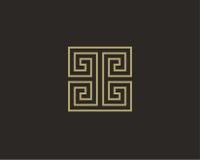 Πρότυπο σχεδίου λογότυπων πολυτέλειας Στοκ Εικόνες