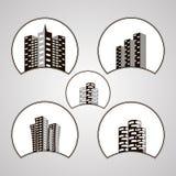Πρότυπο σχεδίου λογότυπων σπιτιών Στοκ Φωτογραφίες
