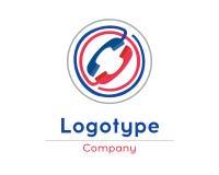 Πρότυπο σχεδίου λογότυπων τηλεφωνικών καταστημάτων Στοκ εικόνες με δικαίωμα ελεύθερης χρήσης