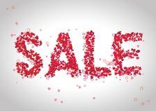 ` Πρότυπο σχεδίου πώλησης ` με τις καρδιές Στοκ Εικόνα