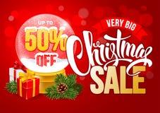 Πρότυπο σχεδίου πώλησης Χριστουγέννων διανυσματική απεικόνιση
