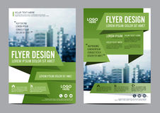 Πρότυπο σχεδίου σχεδιαγράμματος φυλλάδιων πρασινάδων Παρουσίαση κάλυψης φυλλάδιων ιπτάμενων ετήσια εκθέσεων Στοκ φωτογραφία με δικαίωμα ελεύθερης χρήσης