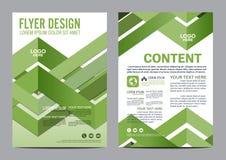Πρότυπο σχεδίου σχεδιαγράμματος φυλλάδιων πρασινάδων Παρουσίαση κάλυψης φυλλάδιων ιπτάμενων ετήσια εκθέσεων Στοκ Φωτογραφίες