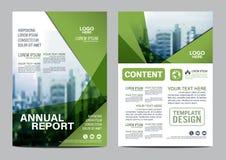 Πρότυπο σχεδίου σχεδιαγράμματος φυλλάδιων πρασινάδων Παρουσίαση κάλυψης φυλλάδιων ιπτάμενων ετήσια εκθέσεων απεικόνιση αποθεμάτων