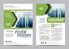 Πρότυπο σχεδίου σχεδιαγράμματος φυλλάδιων πρασινάδων Σύγχρονο υπόβαθρο παρουσίασης κάλυψης φυλλάδιων ιπτάμενων ετήσια εκθέσεων Απ απεικόνιση αποθεμάτων
