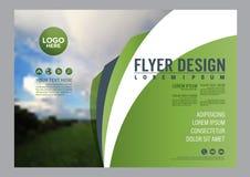 Πρότυπο σχεδίου σχεδιαγράμματος φυλλάδιων πρασινάδων διανυσματική απεικόνιση