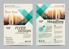 Πρότυπο σχεδίου σχεδιαγράμματος φυλλάδιων Σύγχρονο υπόβαθρο παρουσίασης κάλυψης φυλλάδιων ιπτάμενων ετήσια εκθέσεων απεικόνιση A4 διανυσματική απεικόνιση