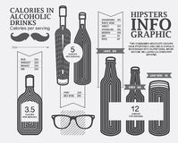Πρότυπο σχεδίου Hipstersinfographic Στοκ Εικόνες