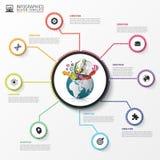 Πρότυπο σχεδίου Infographic δημιουργικός κόσμος διάνυσμα απεικόνιση αποθεμάτων