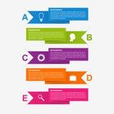 Πρότυπο σχεδίου infographics κορδελλών εγγράφου Στοκ εικόνα με δικαίωμα ελεύθερης χρήσης