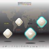 Πρότυπο σχεδίου Infographics με τα εικονίδια καθορισμένα, Στοκ εικόνα με δικαίωμα ελεύθερης χρήσης