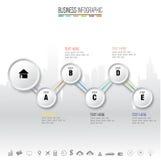 Πρότυπο σχεδίου Infographics με τα εικονίδια καθορισμένα, Στοκ φωτογραφίες με δικαίωμα ελεύθερης χρήσης