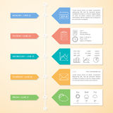 Πρότυπο σχεδίου Infographics υπόδειξης ως προς το χρόνο Στοκ φωτογραφία με δικαίωμα ελεύθερης χρήσης