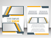 Πρότυπο σχεδιαγράμματος σχεδίου ιπτάμενων Στοκ φωτογραφία με δικαίωμα ελεύθερης χρήσης