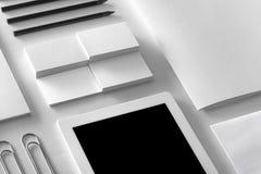 Πρότυπο ταυτότητας εμπορικών σημάτων Κενό εταιρικό σύνολο χαρτικών Στοκ φωτογραφίες με δικαίωμα ελεύθερης χρήσης