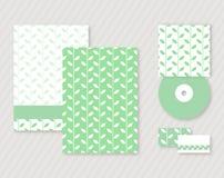 Πρότυπο ταυτότητας με τα πράσινα φύλλα Στοκ εικόνα με δικαίωμα ελεύθερης χρήσης