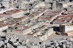 Πρότυπο της αρχαίας Ιερουσαλήμ που εστιάζει σε δύο παλάτια Στοκ φωτογραφία με δικαίωμα ελεύθερης χρήσης