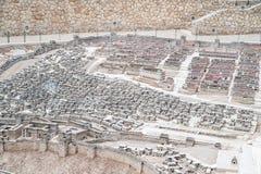 Πρότυπο της αρχαίας Ιερουσαλήμ Στοκ εικόνα με δικαίωμα ελεύθερης χρήσης