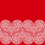 Πρότυπο της καρδιάς στην ημέρα του βαλεντίνου Στοκ φωτογραφία με δικαίωμα ελεύθερης χρήσης