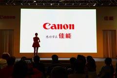 Πρότυπο της Canon σε EXPO στοκ εικόνες
