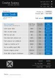 Πρότυπο τιμολογίων - καθαρό σύγχρονο ύφος μπλε και γκρίζος Στοκ Φωτογραφία