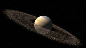 Πρότυπο του Κρόνου όπως τον πλανήτη ελεύθερη απεικόνιση δικαιώματος