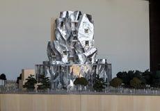 Πρότυπο του τελικού σχεδίου Luma Arles με τον ειλικρινή πύργο Gehry και των ατελιέ σε Arles r στοκ εικόνες